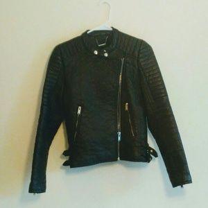 Faux leather biker jacket size S